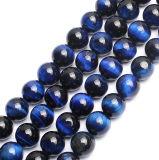 Oeil de Tigre bleu perles rondes Gemstone 16 Strand 4mm de 6mm 8mm 10mm 12mm