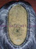 Toupee волос Remy индейца 100% & толщиной кожи впрыснутый