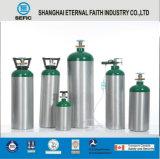 Cilindro de gás de alumínio portátil pequeno do oxigênio da válvula da rosca de DOT-3al-17e