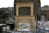 Doppia mensola del camino di marmo del camino per la decorazione dell'interno Sy-Mf314