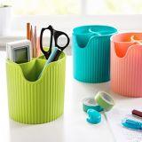 Einfacher Organisator-Badezimmer-Küche-Zubehör-Behälter-Tafelgeschirr-Speicher-Gefäßdrainer-Plastikeßstäbchen-Gefäß-Gabel-Ablagekasten