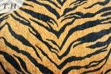 Tela de Chenille impresa tigre de Microfiber (fth31892)
