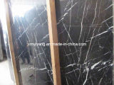 Flooring 및 Wall/Bathroom 또는 Backsplash를 위한 Nero Marquina Black Marble Tiles