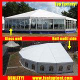 Tent van het Glas van de luxe de Multi Zij voor Diameter 20m van de Gebeurtenis de Gast van Seater van 300 Mensen