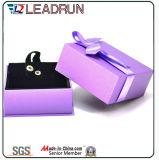 Rectángulo del cuero del rectángulo de almacenaje de la caja de embalaje del rectángulo de regalo de la joyería del terciopelo (Cac26)