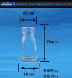 90ml effacent le support de bougie en verre pour la décoration à la maison
