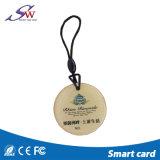 Красивейшая изготовленный на заказ эпоксидная смола RFID Keyfob логоса печатание для контроля допуска двери