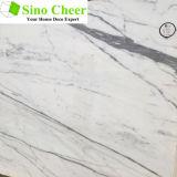 Сляб новых конструкций белый мраморный естественный каменный для сбывания