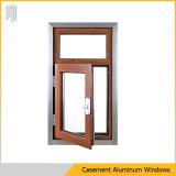 Guichet en aluminium de tissu pour rideaux d'interruption thermique de qualité dans la couleur en bois