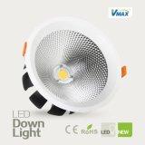 30W alto rendimiento del disipador de calor de larga duración cuadrado empotrado LED