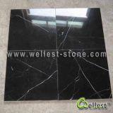 Mattonelle di marmo nere naturali di Nero Marquina Marquina per il pavimento/rivestimento parete/della pavimentazione