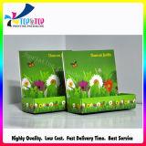 Impressão CMYK Laminação brilhante verde caixa de embalagem
