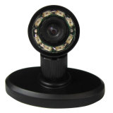 520tvl HD Mini IR Camera com 360deg Rotated Stand (ângulo de vista 90deg, 8 IR lights/5m, Audo-controle, luz invisível de 940nm IR)