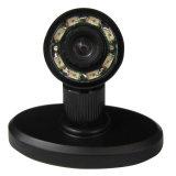 520tvl HD Mini IR Camera con 360deg Rotated Stand (angolo di vista 90deg, 8 IR lights/5m, Audo-controllo, indicatore luminoso invisibile di 940nm IR)