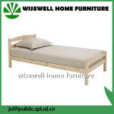 O design simples de madeira de pinho cama de solteiro para venda (W-B-5031)