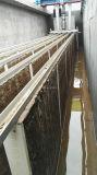 La purificación de agua de superficie por el filtro de tela de fibra