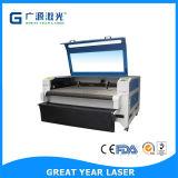 Imprimir Auto-Feeding cabeça dupla de plástico de embalagem máquina de corte a laser