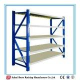 Shelving de aço ajustável escovado do armazém médio inoxidável do dever