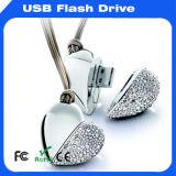 Довольно Crystal украшения бриллиантовое ожерелье флэш-накопитель USB