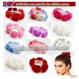 Monili floreali dei capelli del fiore elastico di battesimo della fascia di Hairband (P3035)