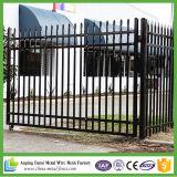 Cerramiento tubular de acero de alta seguridad y diseño de puertas para patio