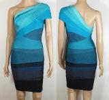 Склоняя платье цвета краткости 3 плеча тощее