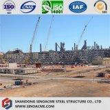 Taller de la estructura de acero pesado con múltiples piso