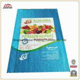 Sac tissé par pp en plastique personnalisé à empaquetage pour l'engrais, alimentation, riz