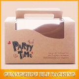 Бумажный упаковывать коробки торта Brown Kraft ручки