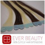 Pelo humano de la cinta del pelo de la Virgen micro de las extensiones con la mejor calidad