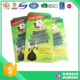 Bolso biodegradable de la basura del animal doméstico del OEM con la impresión