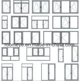 Ventana de aluminio del marco del vidrio Tempered de la doble vidriera del precio de fábrica (ACW-008)