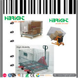 Fio Mesh Cage Container para Warehouse Storage