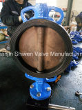 Pega de wafer de roda de ferro fundido da válvula de borboleta