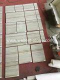 Mattonelle di legno di cristallo del marmo del grano di Wellest, mattonelle di pavimentazione interne, mattonelle del marmo del rivestimento della parete