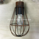 Solar Powered LED Vintage Cage Garden Light (RS1007)