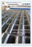 Linha de produção ondulada equipamento composto da folha da telha de telhado da cor plástica de PVC+PMMA/ASA da extrusão da telha de telhado do edifício