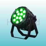 屋外LEDライト、防水12*10W RGBW 4in1小型LEDの標準ライト(Huyn-867G)