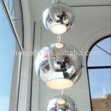 Moderne Chrom-Kugel-Aufhebung-Spiegel-Metallkugel-Decken-hängende Lampe für das Büro hergestellt in China