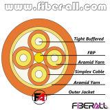 ブレイクアウトの屋内光ファイバケーブル2.0mmのシンプレックス端末増設機構FRP 12fibers