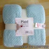 Super Macio e respirável cobertor de lã de Coral com design de favo de mel.