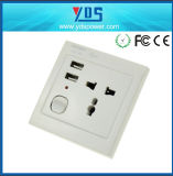 Dual USB PortイギリスUSB Wall Socket 220Vとの2016熱いSellingイギリスUSB Wall Socket 5V1a/2A/4.8A