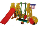 Trasparenza dei bambini e strumentazione di plastica del campo da giuoco di combinazione dell'oscillazione (HC-16509)