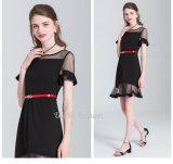 Платье партии хорошего качества полиэфира женщин черное ежедневное