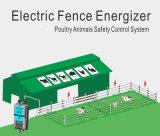 Caricatore elettrico dello stimolatore della rete fissa con il comitato solare per bestiame agricolo
