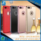 粋なデザインiPhone 7plusのためのアクリルのダイヤモンドTPUミラーの電話箱