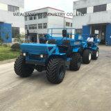 entraîneur agricole de ferme de l'entraîneur 18HP à quatre roues dans le bleu