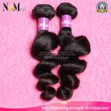 Nenhum emaranhado nenhum produto de cabelo 7A natural malaio humano de derramamento (QB-MVRH-LW)