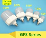 10W luz del aluminio LED/bombilla plásticas