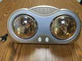 Calentador infrarrojo de oro montado en la pared de 2 lámparas del calentador del cuarto de baño